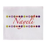 Nayeli with Flowers Throw Blanket