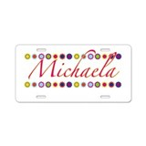 Michaela with Flowers Aluminum License Plate