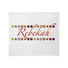 Rebekah with Flowers Throw Blanket