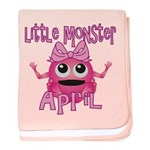 Little Monster April baby blanket