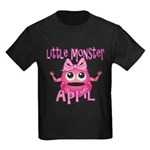 Little Monster April Kids Dark T-Shirt