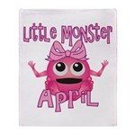 Little Monster April Throw Blanket