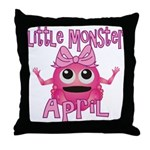Little Monster April Throw Pillow