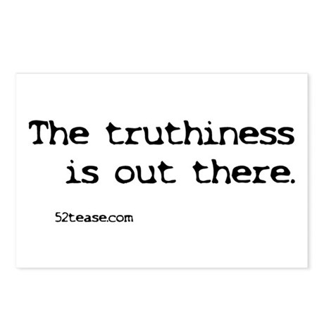 Truthiness is Out There Postcards (Package of 8)