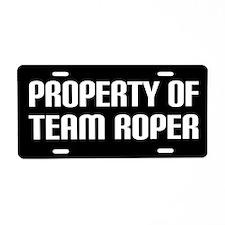 Team Roper License Plate