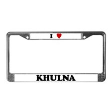I Love Khulna License Plate Frame