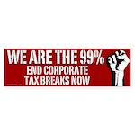 We Are the 99% anti-corporate bumper sticker