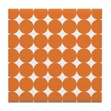 Orange and White Tile Coaster