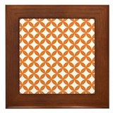 Orange and White Framed Tile