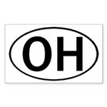 OHIO OVAL STICKERS & MORE! Sticker (Rectangle 50 p
