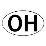 OHIO OVAL STICKERS & MORE! Sticker (Oval 10 pk)