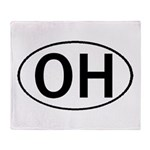 OHIO OVAL STICKERS & MORE! Throw Blanket
