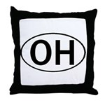 OHIO OVAL STICKERS & MORE! Throw Pillow
