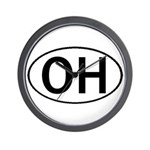 OHIO OVAL STICKERS & MORE! Wall Clock