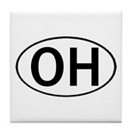OHIO OVAL STICKERS & MORE! Tile Coaster