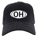 OHIO OVAL STICKERS & MORE! Black Cap