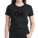OHIO OVAL STICKERS & MORE! Women's Dark T-Shirt