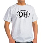 OHIO OVAL STICKERS & MORE! Light T-Shirt