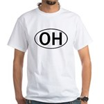 OHIO OVAL STICKERS & MORE! White T-Shirt