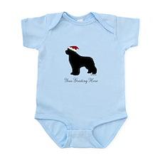 Newf Santa - Your Text Infant Bodysuit