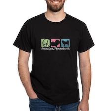 Peace, Love, Tibetan Mastiffs T-Shirt
