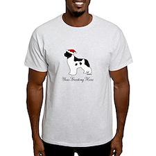 Landseer Santa - Your Text T-Shirt
