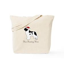 Landseer Santa - Your Text Tote Bag