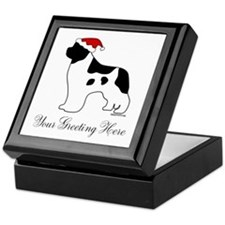 Landseer Santa - Your Text Keepsake Box