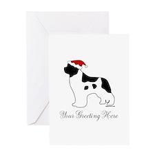 Landseer Santa - Your Text Greeting Card