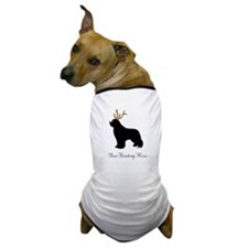 Reindeer Newf - Your Text Dog T-Shirt