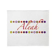 Aleah with Flowers Throw Blanket