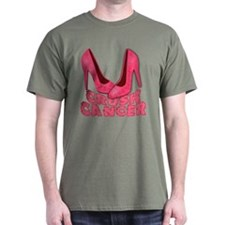 Crush Cancer with Pink Heels T-Shirt