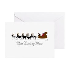 Landseer Sleigh - Your Text Greeting Card
