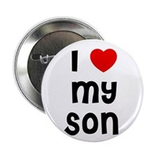 "I * My Son 2.25"" Button (10 pack)"
