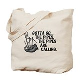 Funny Bagpipes Tote Bag