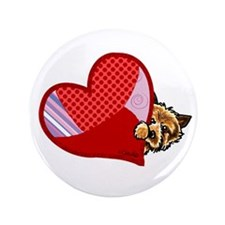 "Love Norwich Terriers 3.5"" Button"