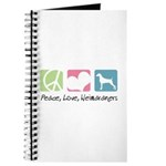 Peace, Love, Weimaraners Journal