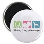 Peace, Love, Weimaraners Magnet