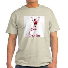 His Track Star Ash Grey T-Shirt