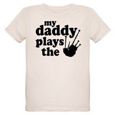 Daddy Plays Bagpipes Organic Kids T-Shirt