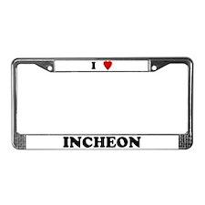I Love Incheon License Plate Frame