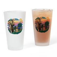 St Francis #2/ Briard (f) Drinking Glass