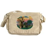 St.Francis #2/ Briard (blk) Messenger Bag