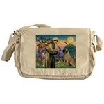 St Francis / Bullmastiff Messenger Bag