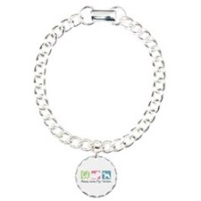 Peace, Love, Fox Terriers Bracelet