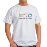 Peace, Love, Fox Terriers Light T-Shirt