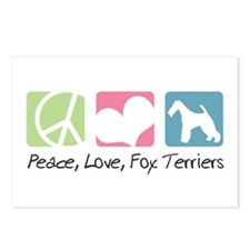 Peace, Love, Fox Terriers Postcards (Package of 8)