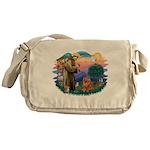 St Francis #2/ Chow (R) Messenger Bag