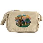 St.Francis #2/ Cocker (buff # Messenger Bag
