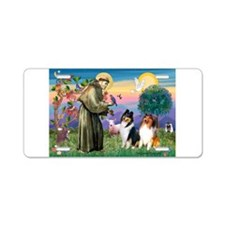 St Francis / Collie Pair Aluminum License Plate